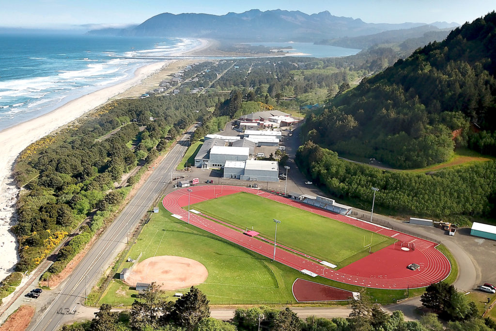 Aerial view of one of our lovely track and field facilities.